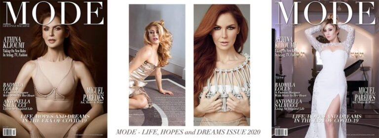 """Athina Klioumi and Antonella Salvucci: Dual Cover """"Life, Hopes and Dreams"""" Issue 2020 – Mode Lifestyle Magazine"""
