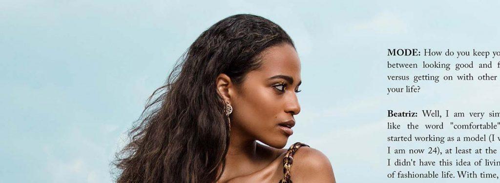 """Beatriz Fortunato - Brazilian Model is #3 in """"MODE's World's 100 Most Beautiful Women 2016""""."""