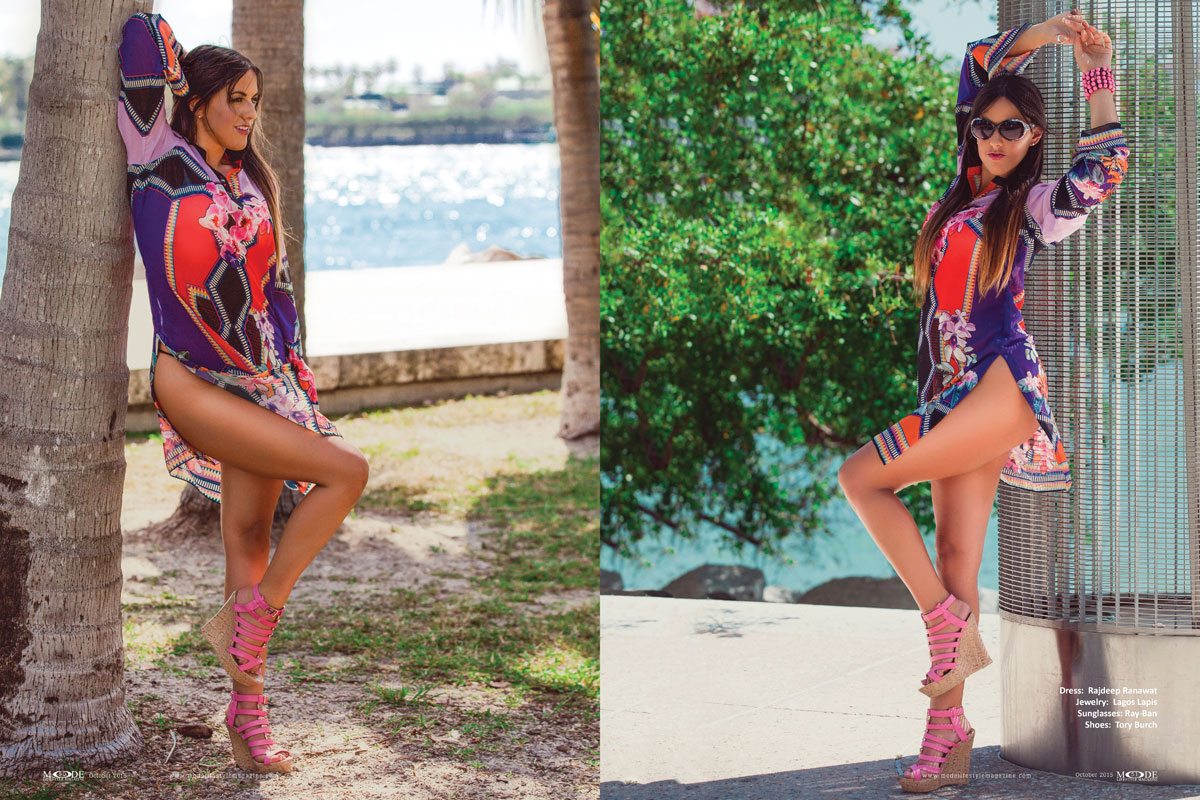 """Claudia Romani – """"Living In Front Of The Camera"""" MODE Oct 2015 Exclusive - Page Spreads 48-57 - P2"""