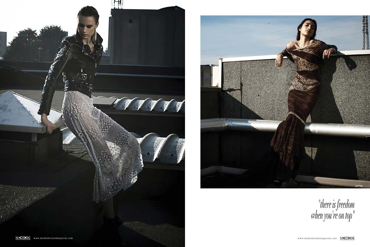 """Fashionistas on Rooftop - """"there is freedom when you are on top"""""""