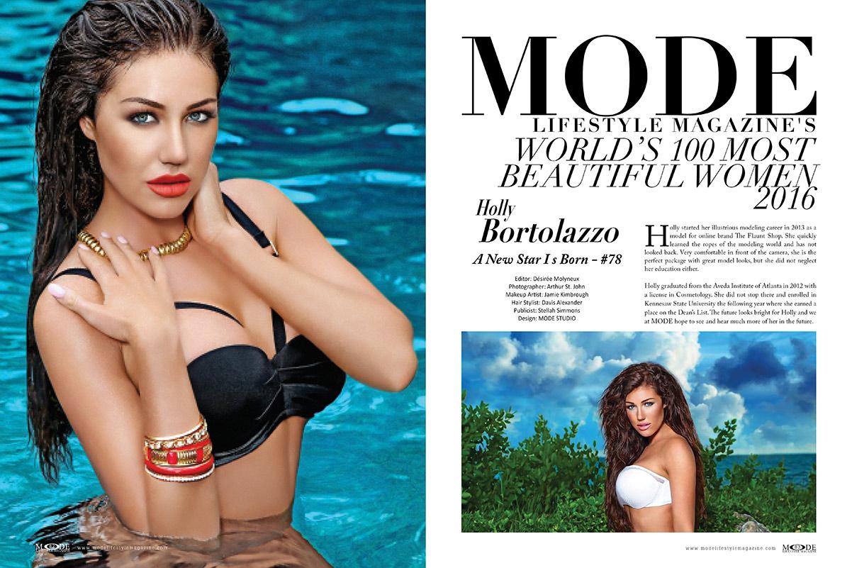 Holly Bortolazzo - A New Star - MODE's World's 100 Most Beautiful Women 2016 list
