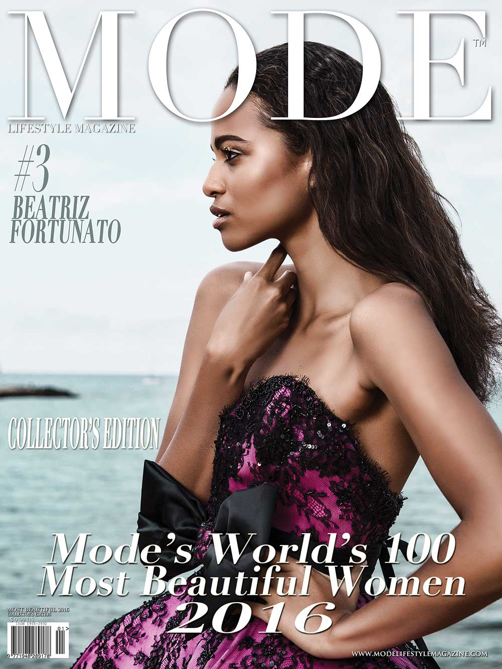 COVER - #3 Beatriz Fortunato - MODE'S WORLD'S 100 MOST BEAUTIFUL WOMEN 2016. Photo by John Honk