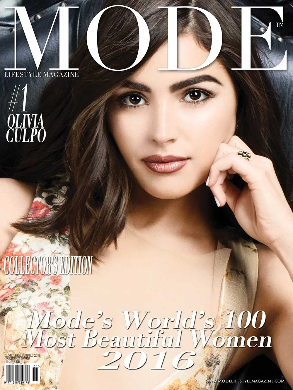 COVER - #1 Olivia Culpo - MODE'S WORLD'S 100 MOST BEAUTIFUL WOMEN 2016. Photo by Terry Check