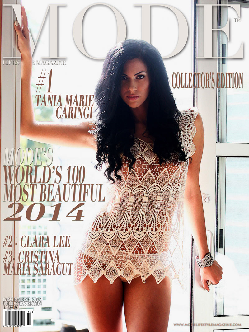 #1 MOST BEAUTIFUL - Tania Marie Caringi is on the cover of December 2014 Special Edition