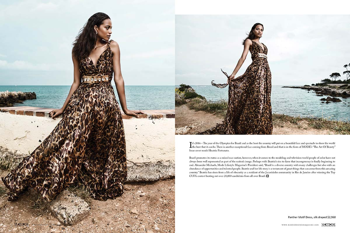 """Beatriz Fortunato - The New Face of Brazil - """"The Art Of Beauty"""" MODE edition Page 82-83"""