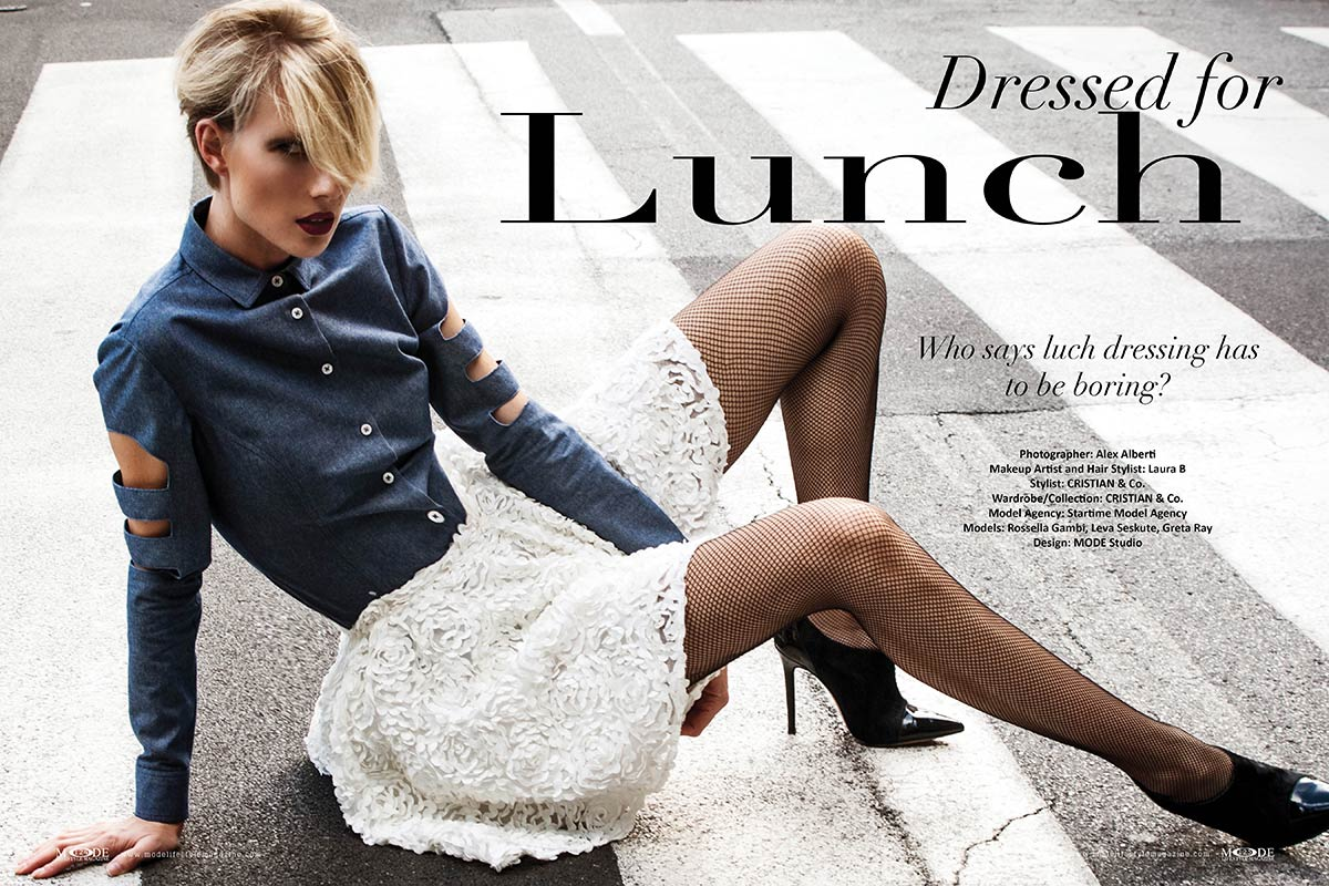 "Dressed for Lunch - Mode Lifestyle Magazine ""Hollywood Icons"" Issue"