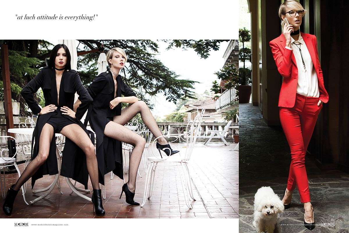 """Dressed for Lunch - """"Attitude is everything!"""" Mode Lifestyle Magazine """"Hollywood Icons"""" Issue"""