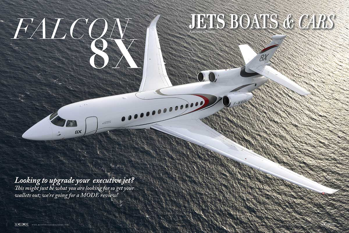 "Falcon 8X - MODE Executive Jet Review - ""Hollywood Icons"" Issue"
