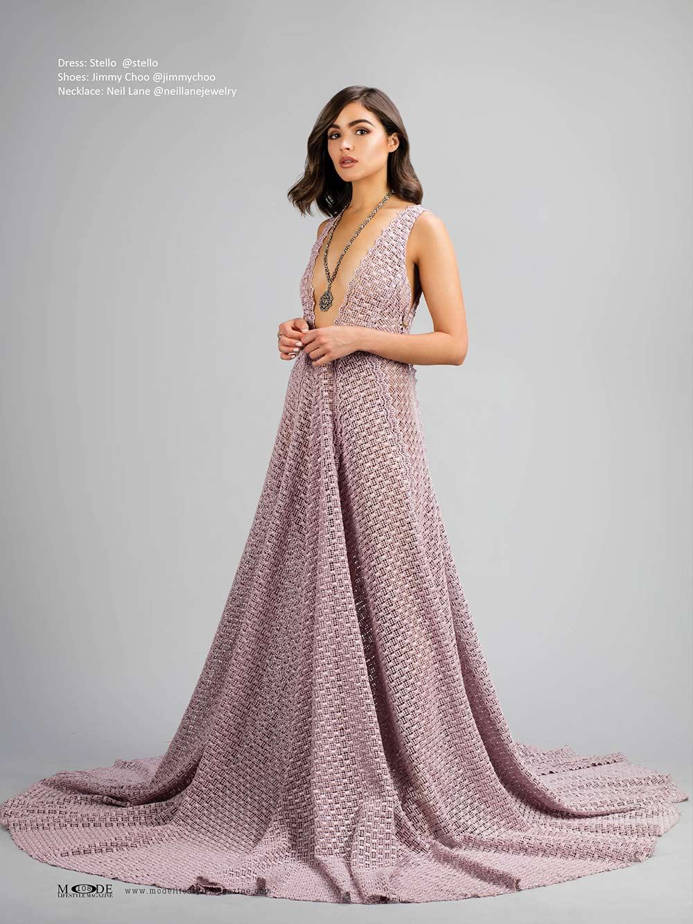 """Olivia Culpo wears dress by Stello - Mode Lifestyle Magazine """"Hollywood Icons"""" Issue"""