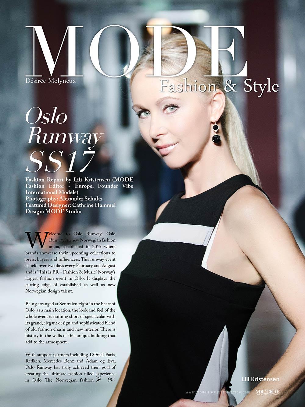 """Oslo Runway SS17 - MODE Fashion & Style, """"Hollywood Icons"""" Issue Mode Lifestyle Magazine"""