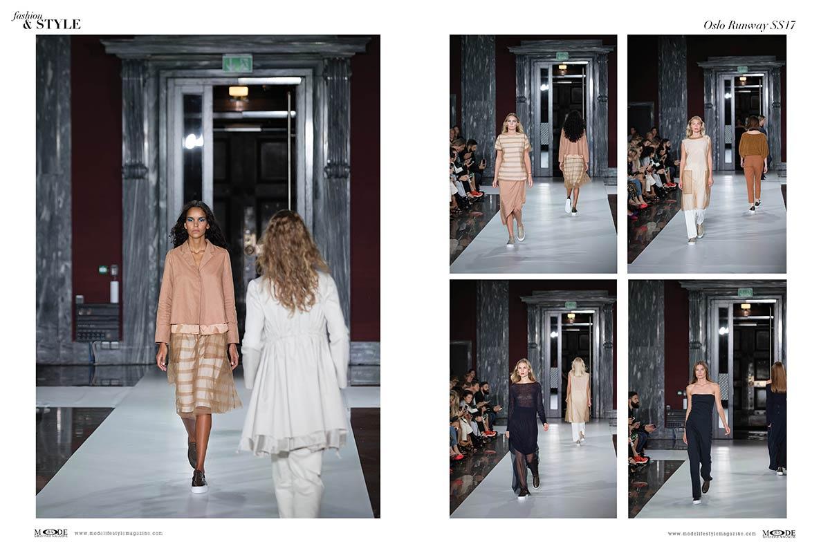 """Oslo Runway SS17 - MODE Fashion & Style; Featuring designer Cathrine Hammel. """"Hollywood Icons"""" Issue Mode Lifestyle Magazine."""