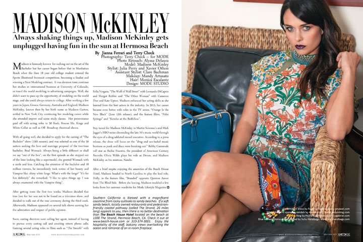 Madison McKinley - Feature- May/June 2015 Mode Lifestyle Magazine, Page 82-83