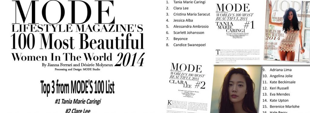 Special Edition-Mode Lifestyle Magazine's 100 Most Beautiful Women In The World 2014 – Slide