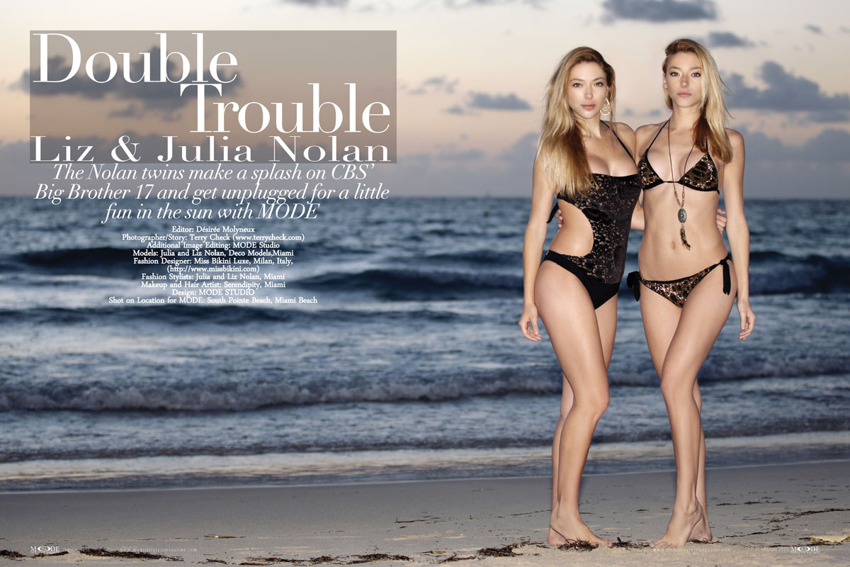 Double Trouble - Nolan Twins have fun in the Sun with MODE - Oct-2015
