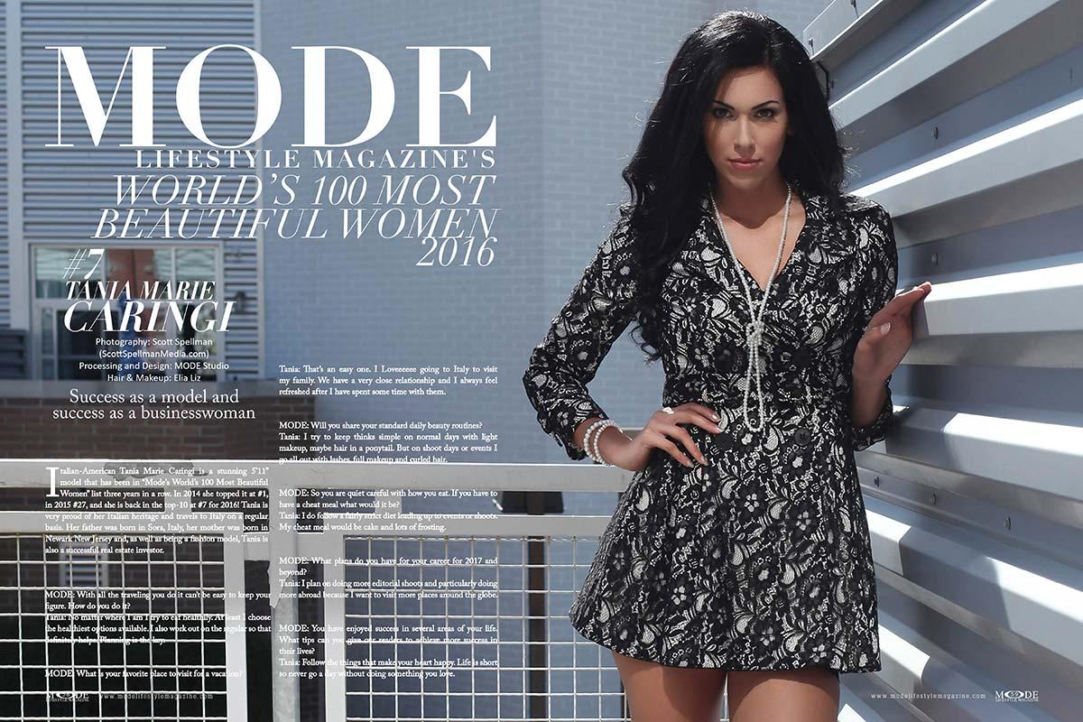 "Tania Marie Caringi - #7 in ""MODE's World's 100 Most Beautiful Women 2016"""