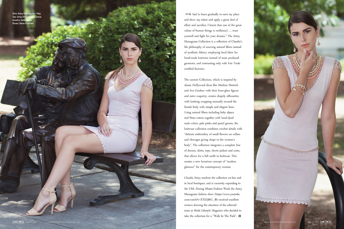 """Audrey Garrett Wears """"Claudia Anicy Manuguian"""" Collection For A """"Walk In The Park"""" - Mode-Oct-2015-Page-Spreads-94-103-2"""
