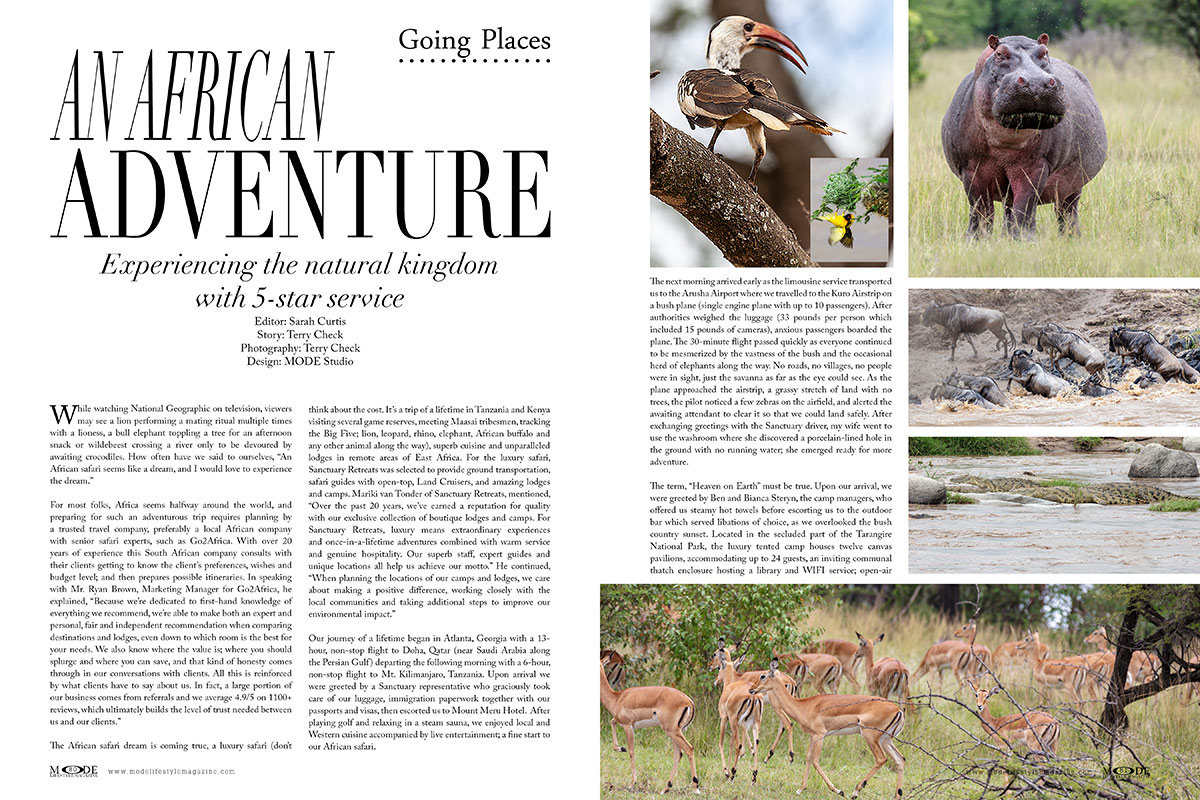 An African Adventure: Mode Lifestyle Magazine - Living A Full Life Issue 2020 - Page 80-81