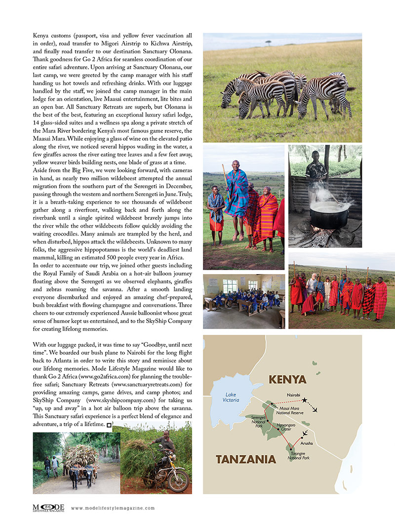 An African Adventure: Mode Lifestyle Magazine - Living A Full Life Issue 2020 - Page 86
