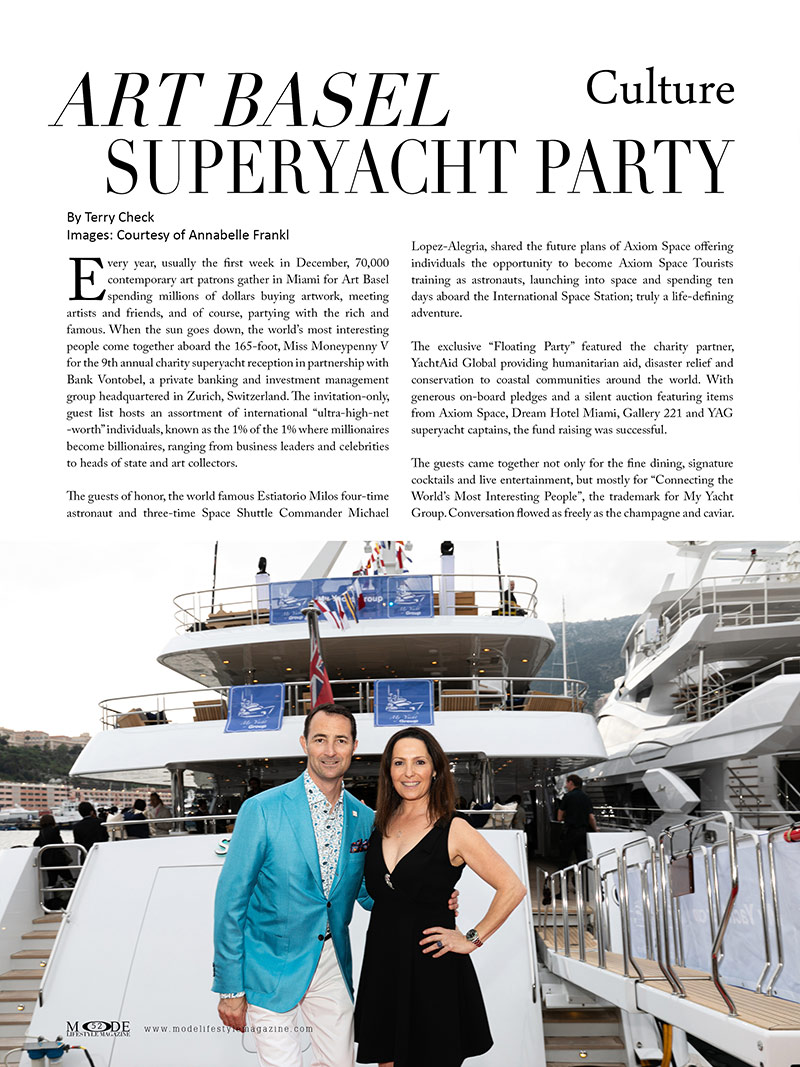 Art Basel Superyacht Party - MODE Living A Full Life Issue 2020 - Page 52