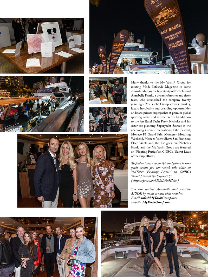 Art Basel Superyacht Party - MODE Living A Full Life Issue 2020 - Page 53