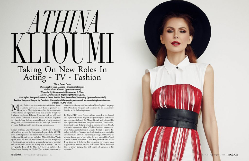 Athina-Klioumi - Taking on New Roles in Acting - TV - Fashion - MODE Page 26-28