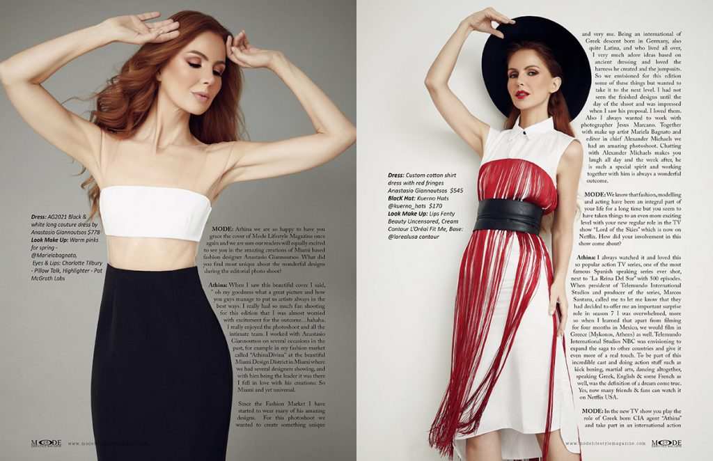 Athina Klioumi - Taking on New Roles in Acting - TV - Fashion - MODE Page 28-29