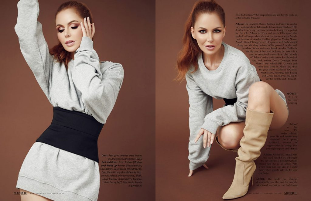 Athina Klioumi - Taking on New Roles in Acting - TV - Fashion - MODE Page 30-31