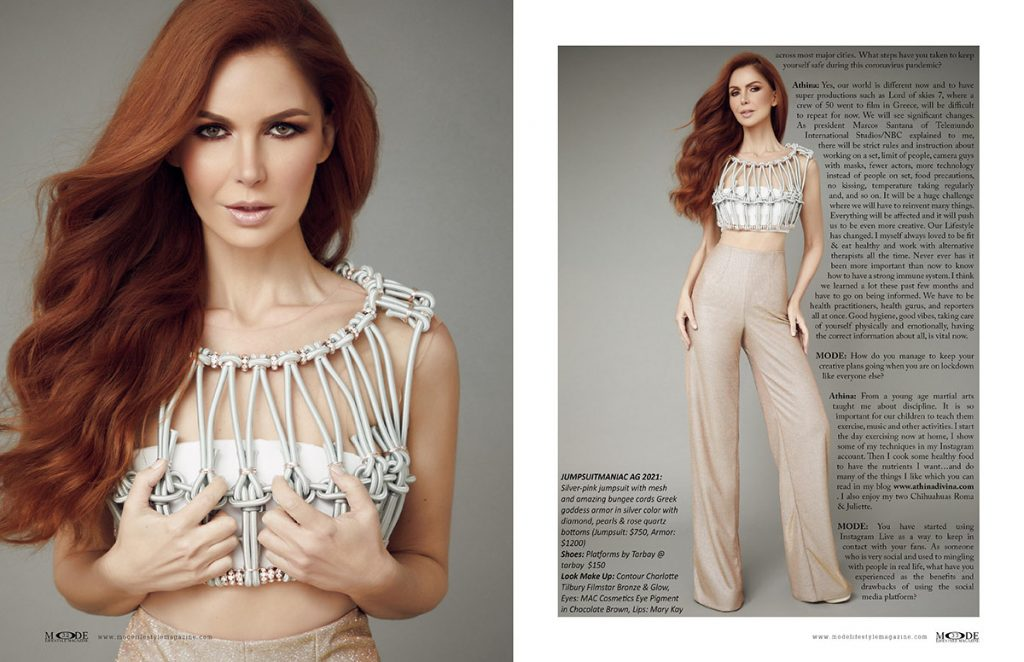 Athina Klioumi - Taking on New Roles in Acting - TV - Fashion - MODE Page 32-33