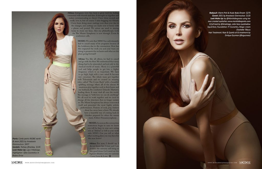 Athina Klioumi - Taking on New Roles in Acting - TV - Fashion - MODE Page 34-35
