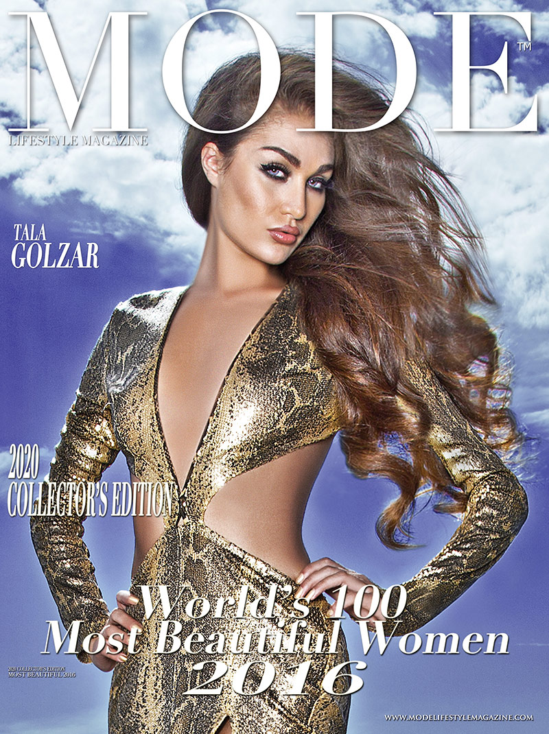 Tala Golzar  Cover - 2020 Collector's Edition: MODE's World's 100 Most Beautiful Women 2016