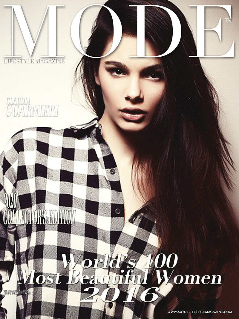 Claudia Guanieri  Cover - 2020 Collector's Edition: MODE's World's 100 Most Beautiful Women 2016