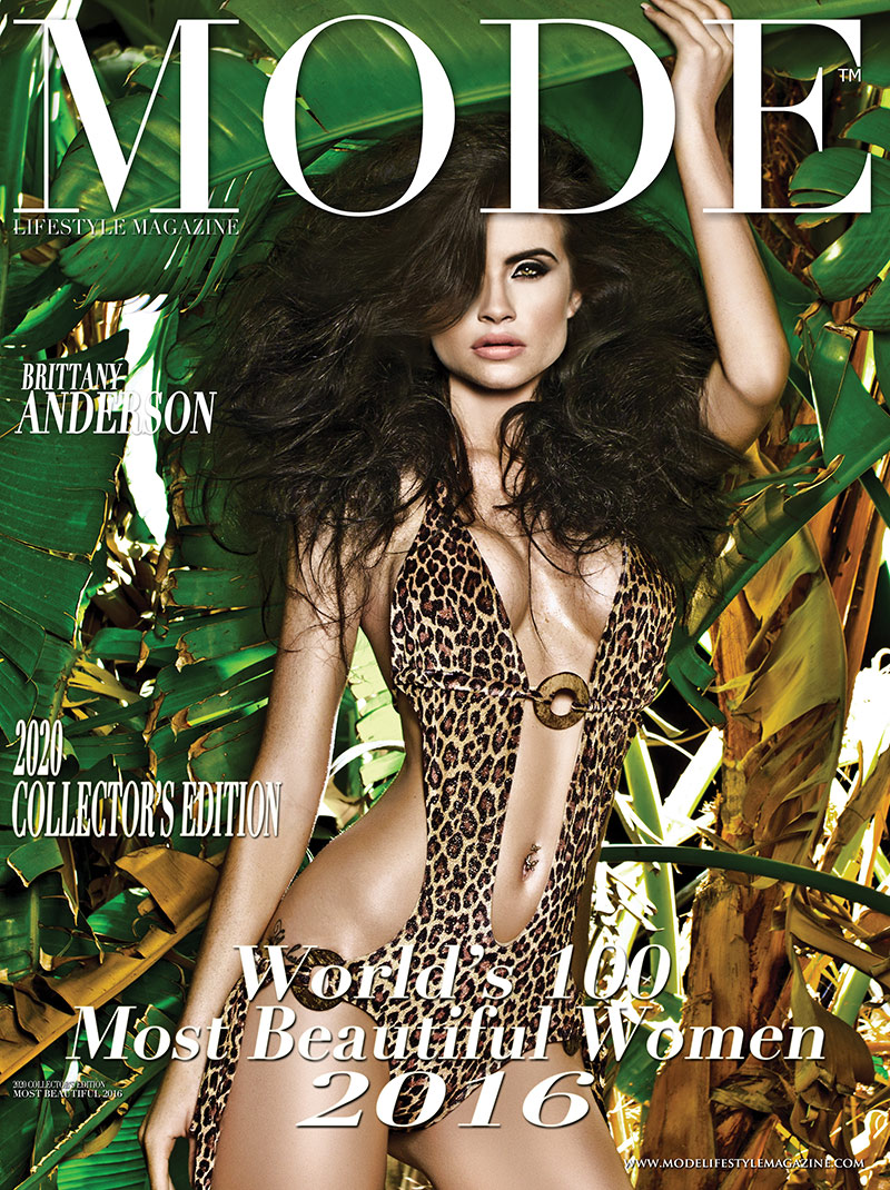 Brittany Anderson Cover - 2020 Collector's Edition: MODE's World's 100 Most Beautiful Women 2016