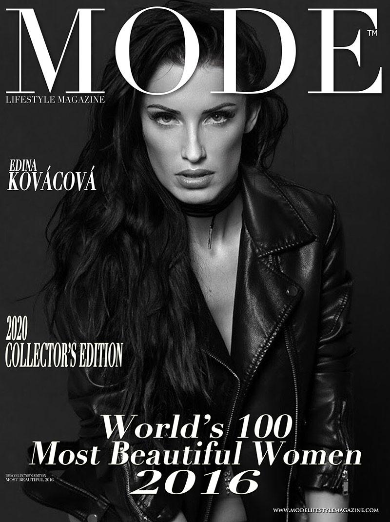 Edina Kováčová Cover - 2020 Collector's Edition: MODE's World's 100 Most Beautiful Women 2016