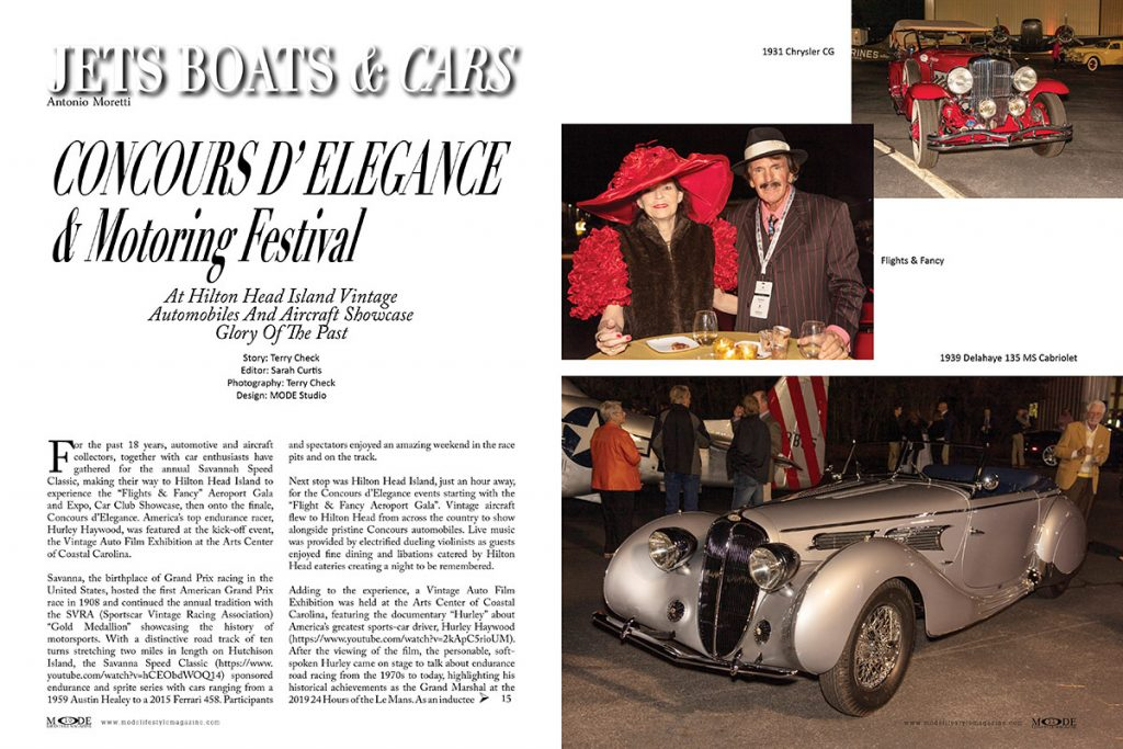 """Concors d'Elegance and Motoring Festival - Mode Lifestyle Magazine """"Living A Full Life"""" Issue: Page 10-11"""