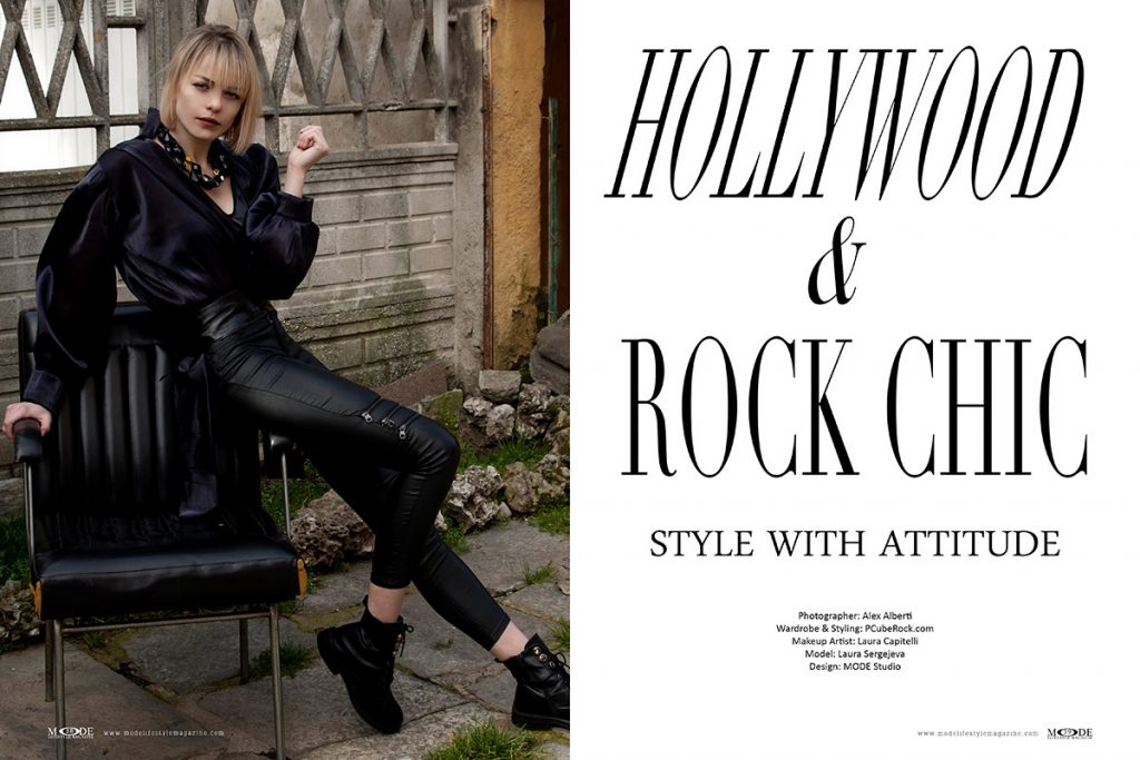 Hollywood and Rock Chic - Mode Lifestyle Magazine Living A Full Life 2020 Issue - Page 38-39