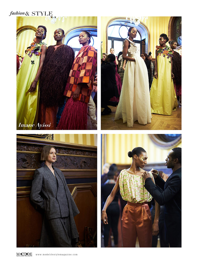 """Imane Ayissi - Spring Summer 2020 Haute Couture Fashion Week - Mode Lifestyle Magazine """"Living A Full Life"""" Issue 2020 Page: 70"""