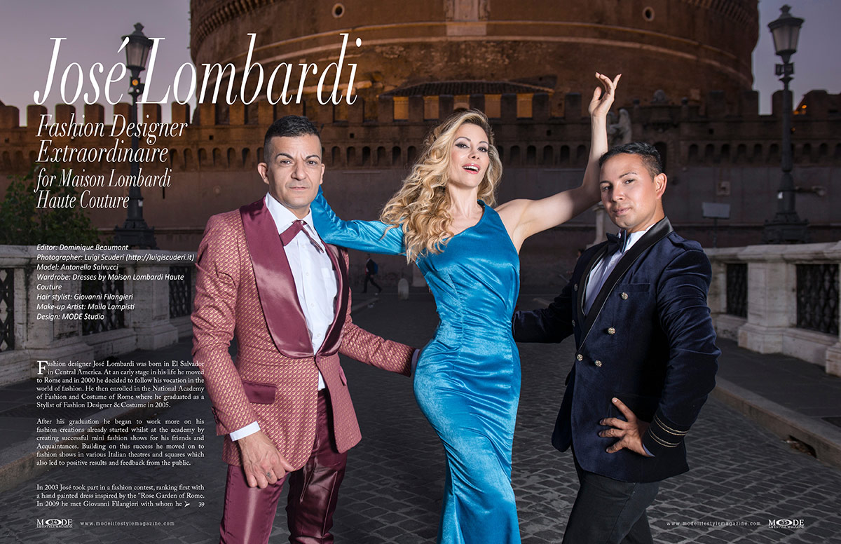 José Lombardi for Maison Lombardi Haute Couture - MODE Page 34-35