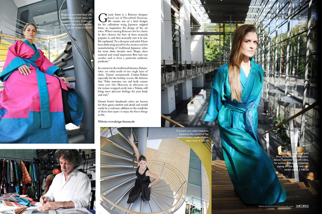 Kimono Design By Gianni Sarto - Mode Lifestyle Magazine - Living Full Life Issue 2020 - Page 50-51
