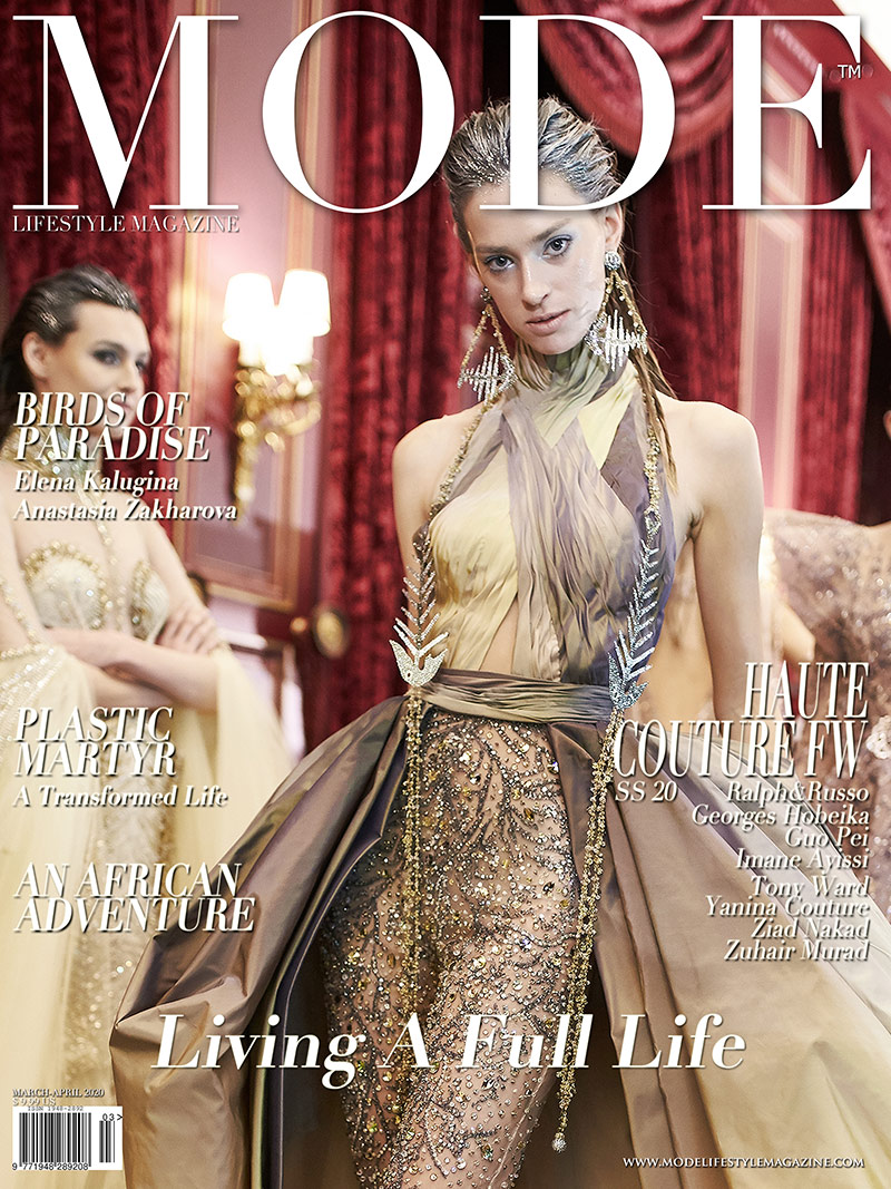 Living A Full Life Issue - Haute Couture - Designer: Ziad Nakad Cover-2 - Mode Lifestyle Magazine 2020