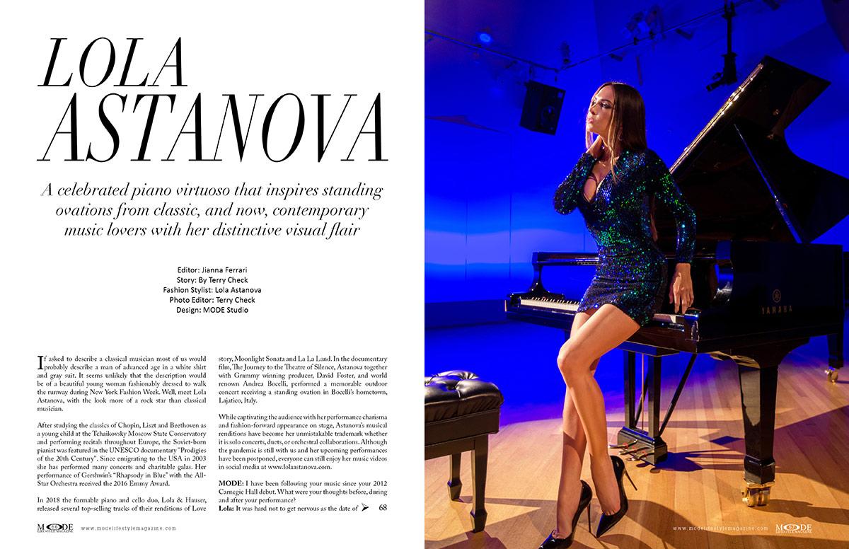 Lola Astanova - Fashionably Musical - MODE: Pages 66-67