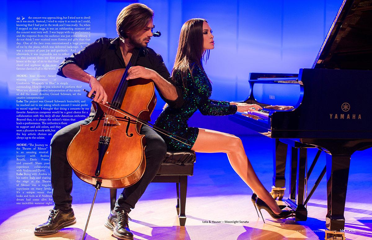Lola Astanova - Fashionably Musical - MODE: Pages 68-69