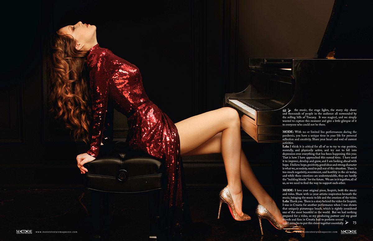 Lola Astanova - Fashionably Musical - MODE: Pages 70-71
