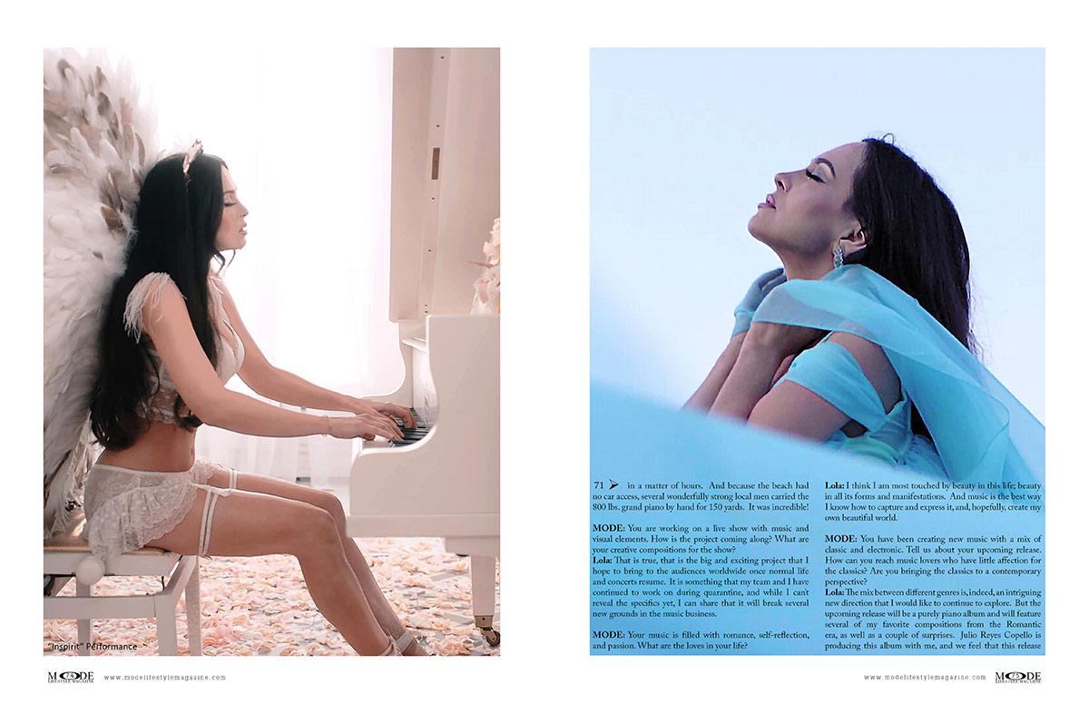 Lola Astanova - Fashionably Musical - MODE: Pages 74-75