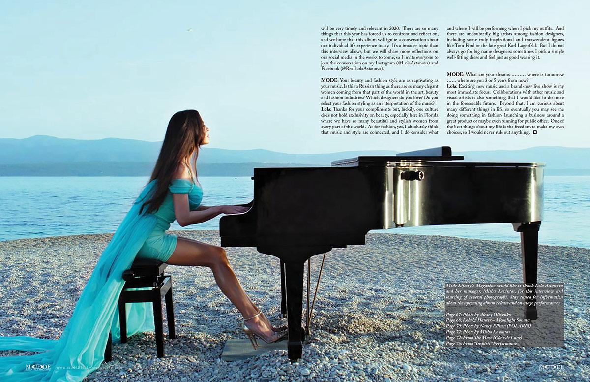 Lola Astanova - Fashionably Musical - MODE: Pages 76-77