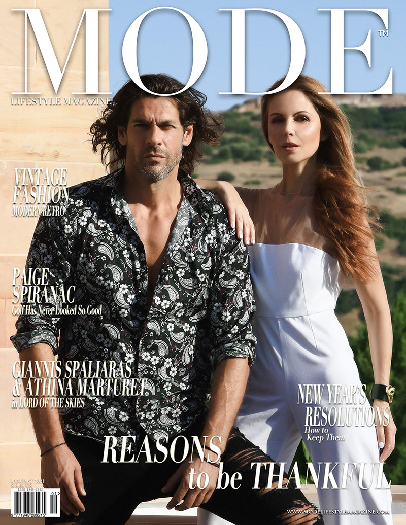 Giannis Spaliaras and Athina Klioumi Marturet MODE Cover - In Reasons To Be Thankful Edition 2021