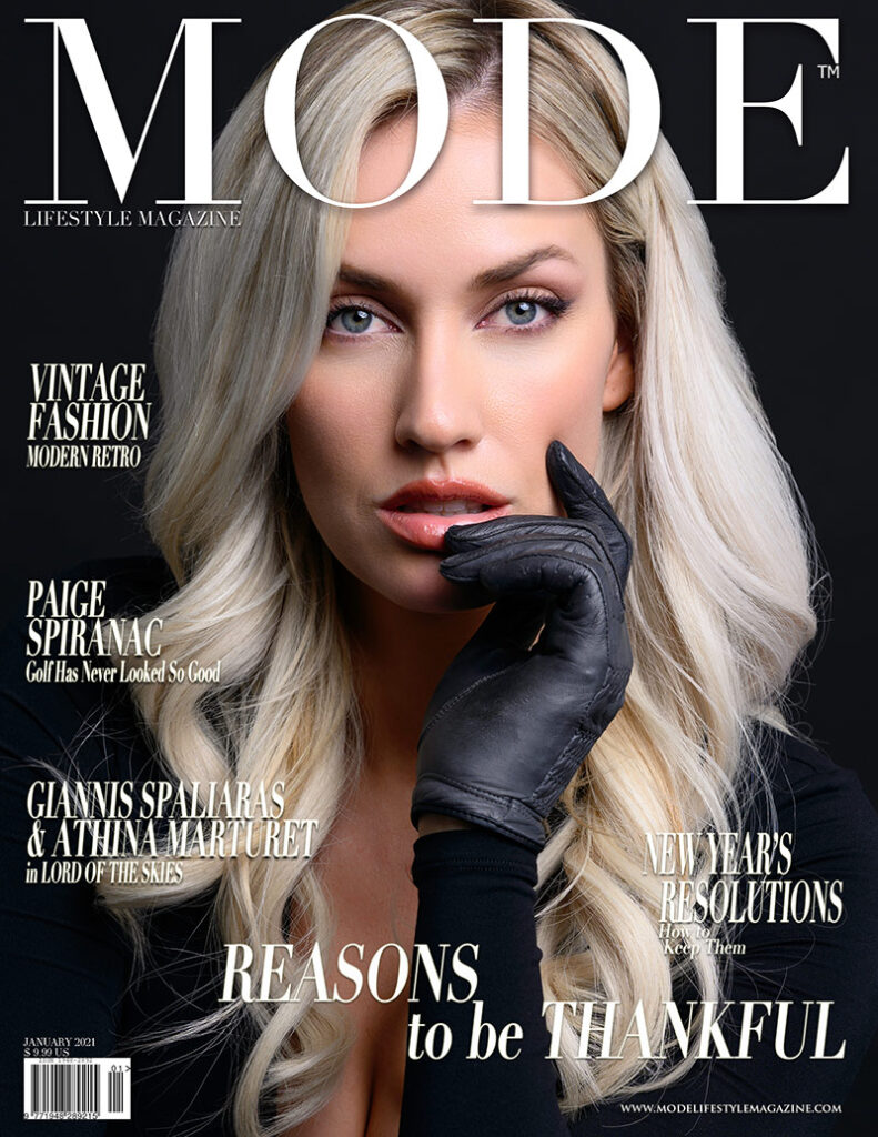 Paige Spiranac MODE Cover - In Reasons To Be Thankful Edition 2021