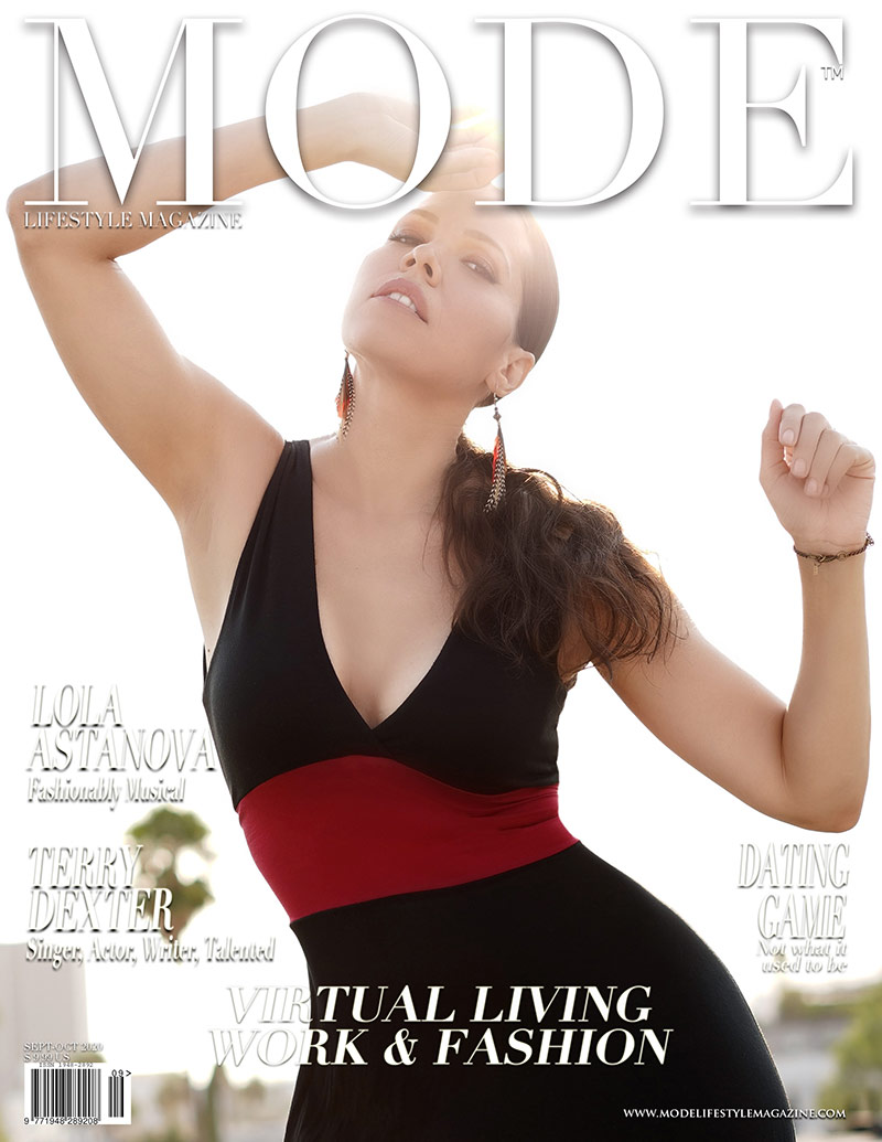 """Terry Dexter Cover - """"Virtual Living, Work & Fashion Issue 2020"""" Mode Lifestyle Magazine"""