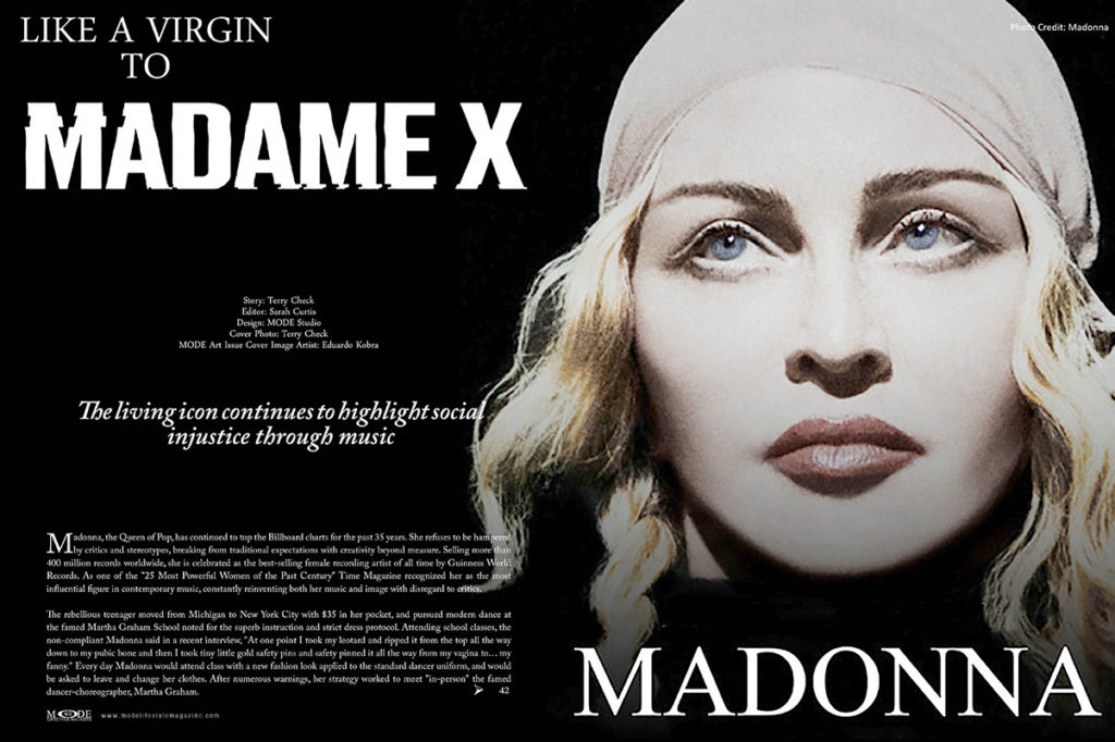 Madonna - Madam X - MODE-Art-Issue 2019 - Pages 40-41