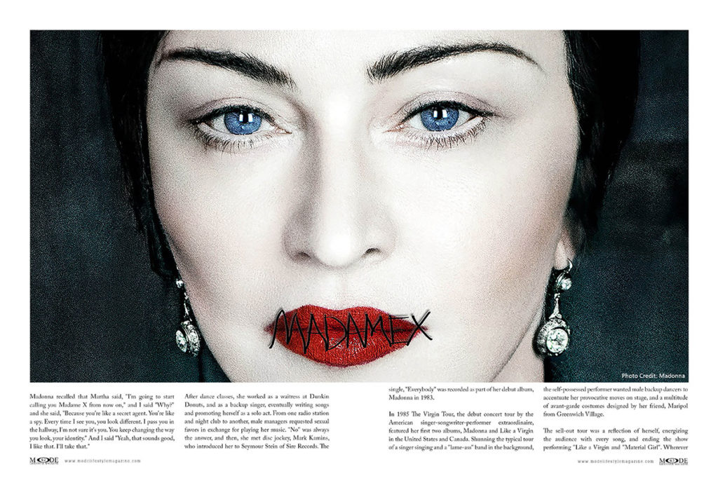 Madonna - Madam X - MODE-Art-Issue 2019 - Pages 42-43