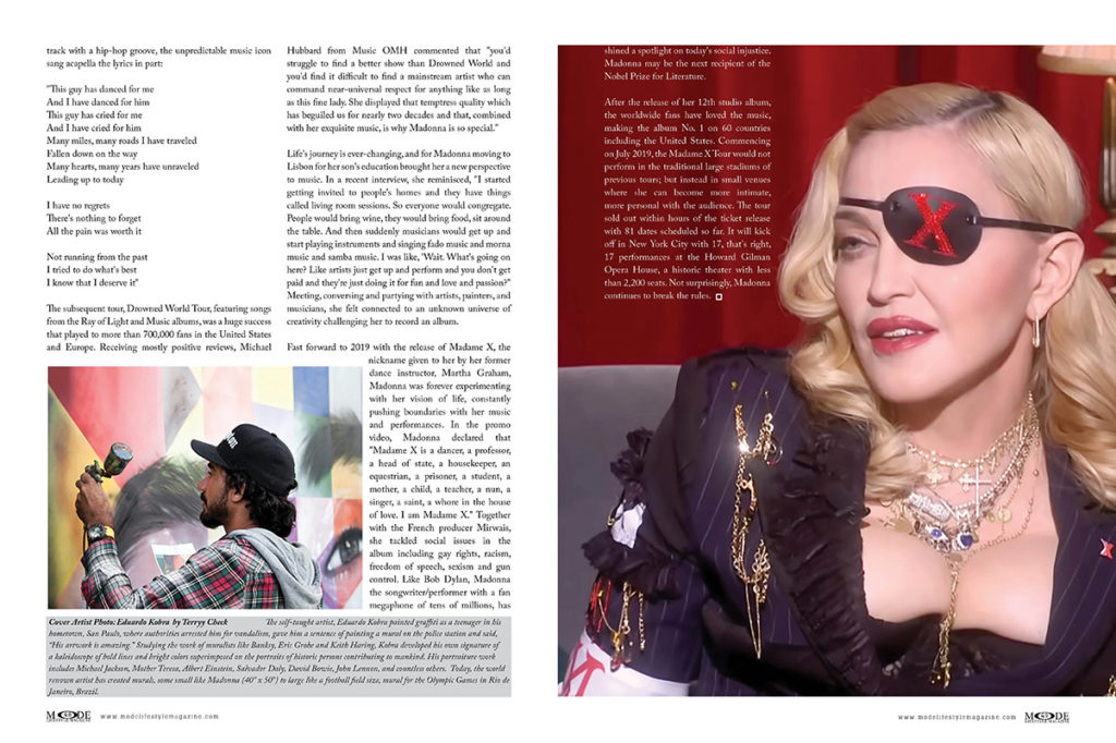 Madonna - Madam X - MODE-Art-Issue 2019 - Pages 48-49